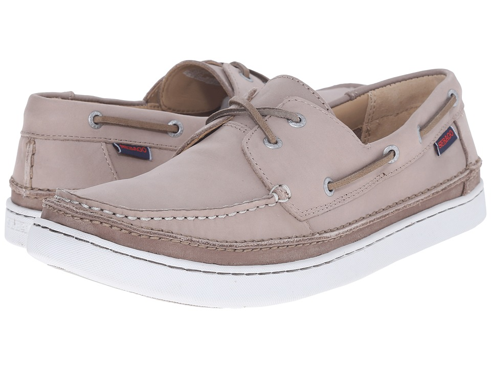 Sebago Ryde Two Eye Light Grey Leather Mens Shoes