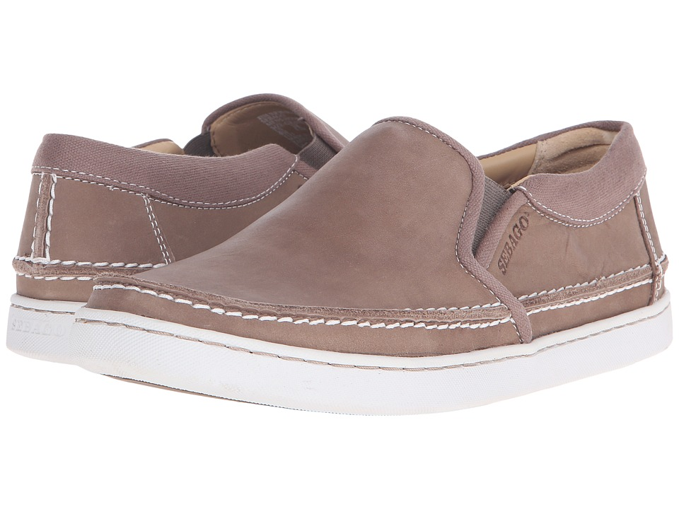 Sebago Ryde Slip-On (Dark Taupe Leather) Men