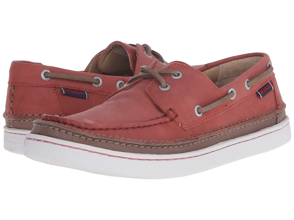 Sebago Ryde Two Eye Rust Leather Mens Shoes