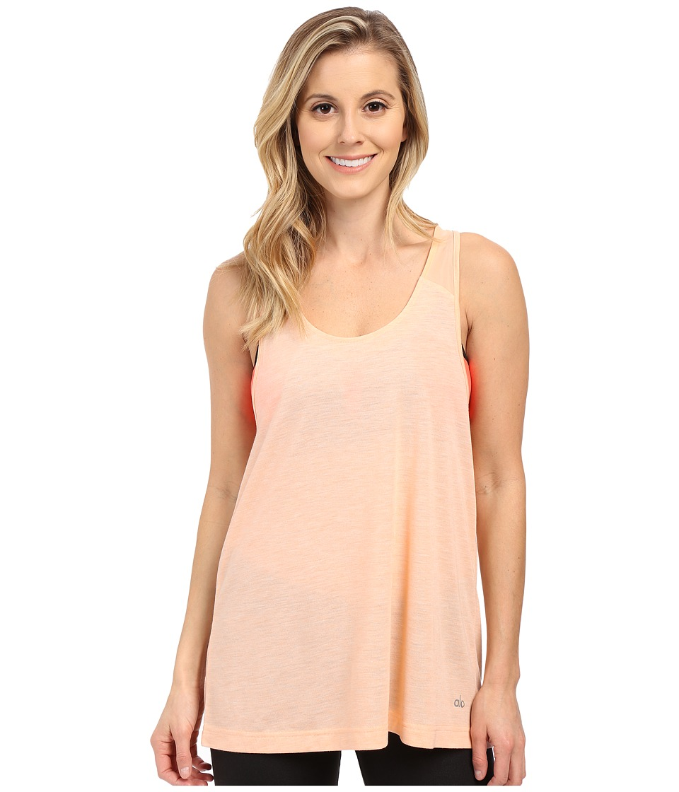 ALO Vapor Tank Tropical Peach Fleck Womens Sleeveless