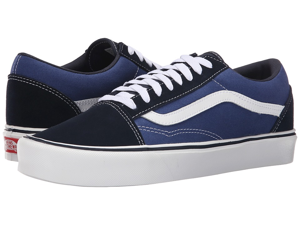 Vans Old Skool Lite Suede/Canvas Navy/White Mens Skate Shoes
