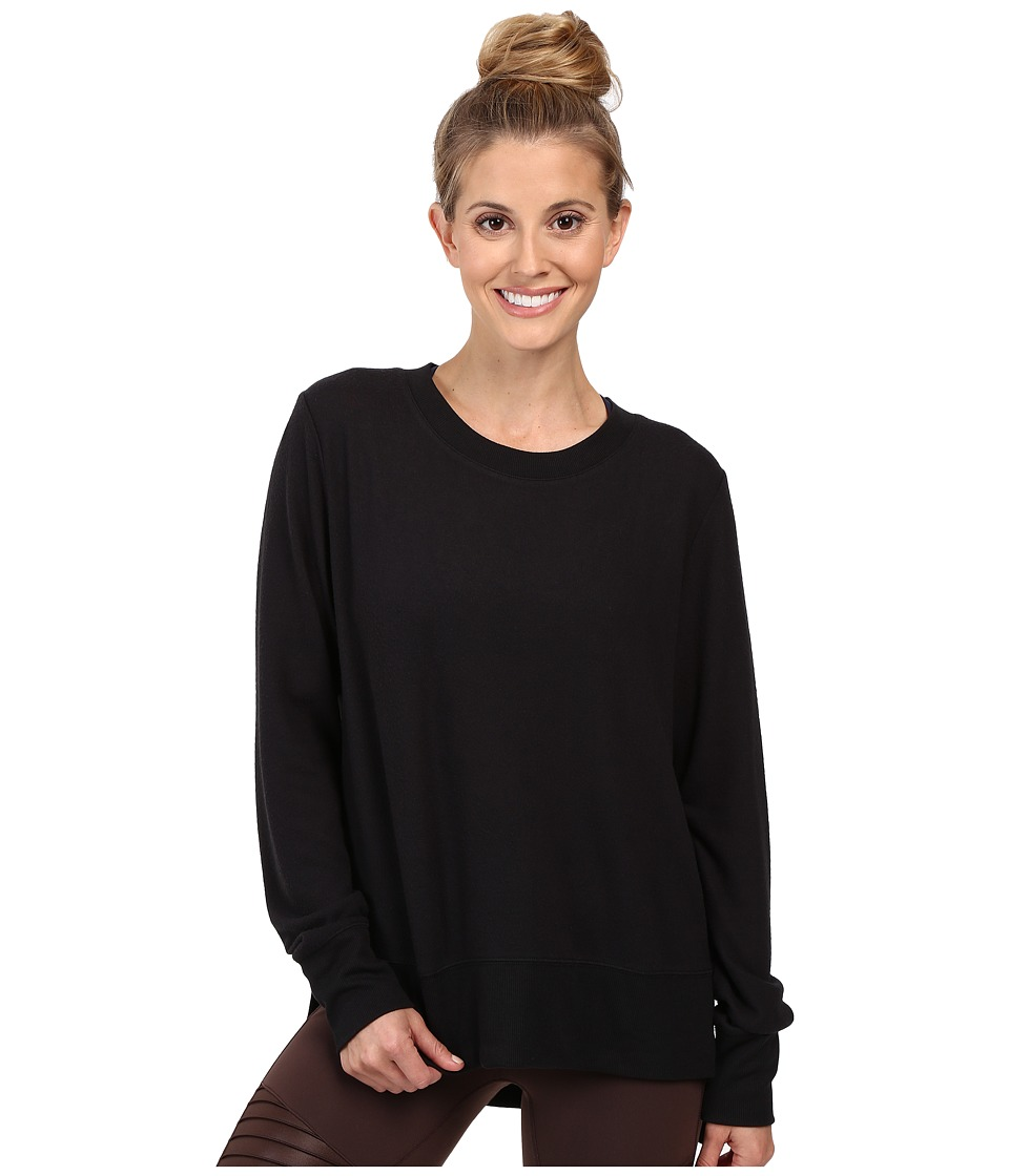 ALO Glimpse Long Sleeve Top (Black) Women