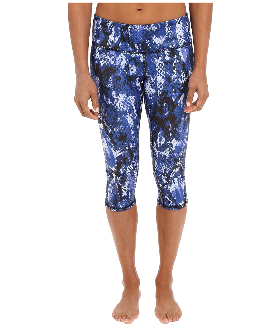 ALO Airbrushed Capri Deep Electric Blue Python Womens Workout