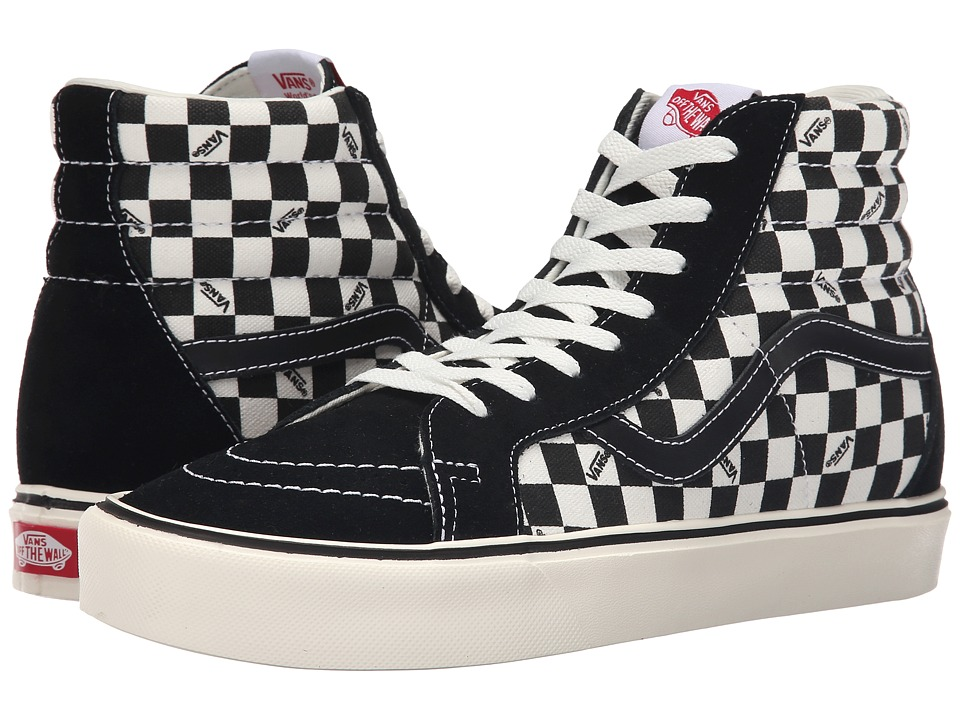 Vans Sk8 Hi Lite Reissue Black/Check Mens Skate Shoes