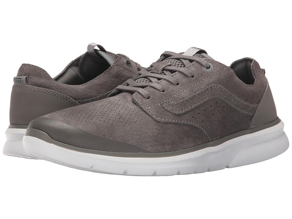 Vans Iso Perf Nubuck Brushed Nickel/White Mens Skate Shoes