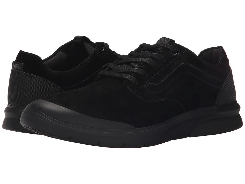Vans Iso Perf Nubuck Black/Black Mens Skate Shoes