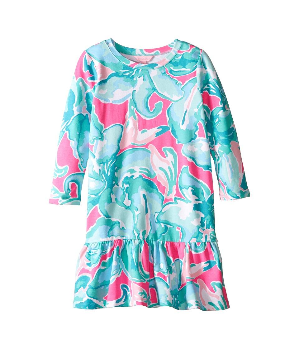 Lilly Pulitzer Kids Kim Dress Toddler/Little Kids/Big Kids Tropical Pink Pink Sands Girls Dress