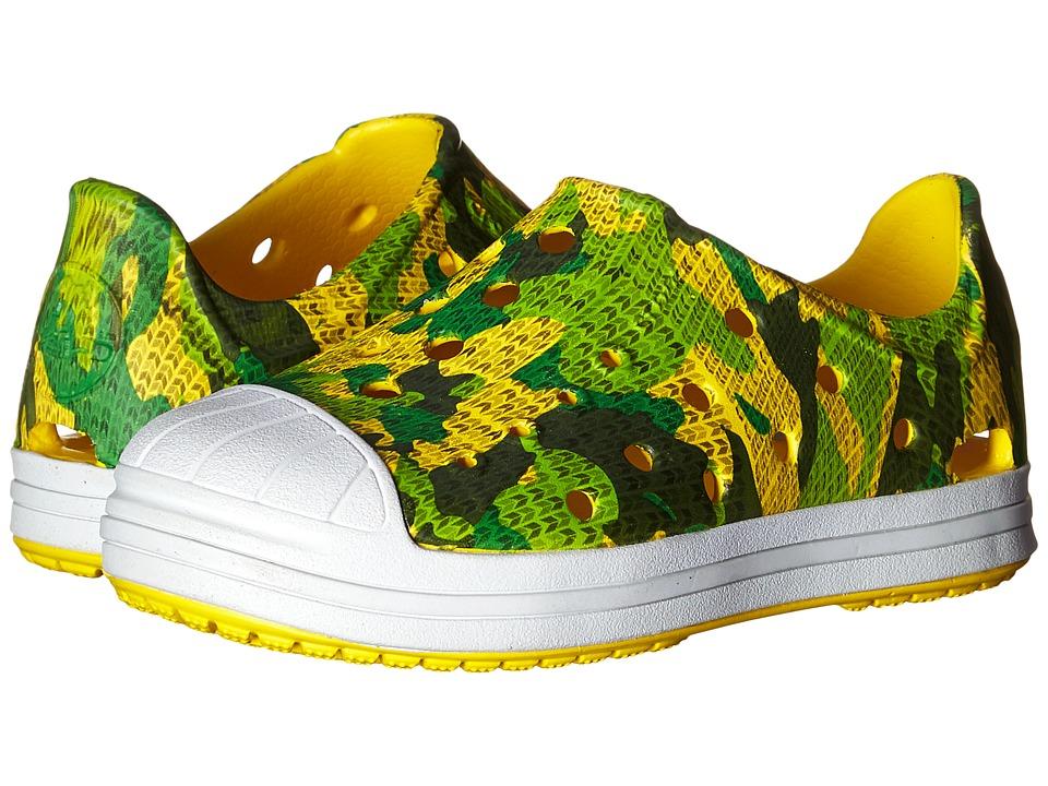 Crocs Kids Bump It Camo Shoe Toddler/Little Kid Grass Green Boys Shoes