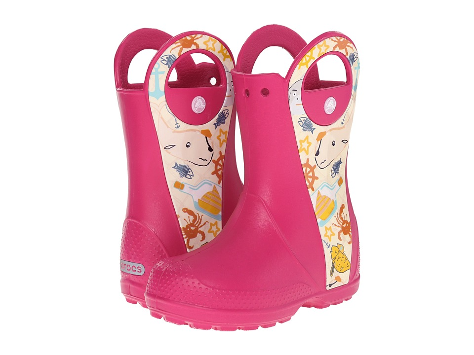 Crocs Kids Handle It Sea Life Boot Toddler/Little Kid Raspberry Kids Shoes