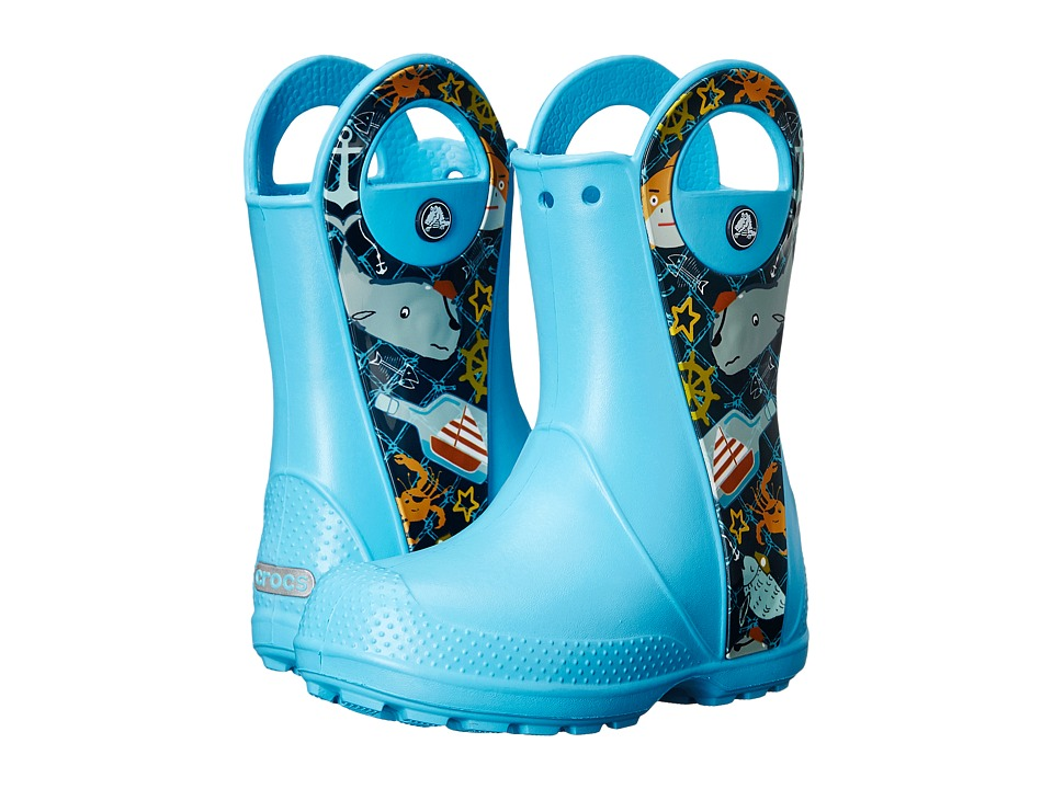 Crocs Kids Handle It Sea Life Boot Toddler/Little Kid Electric Blue Kids Shoes