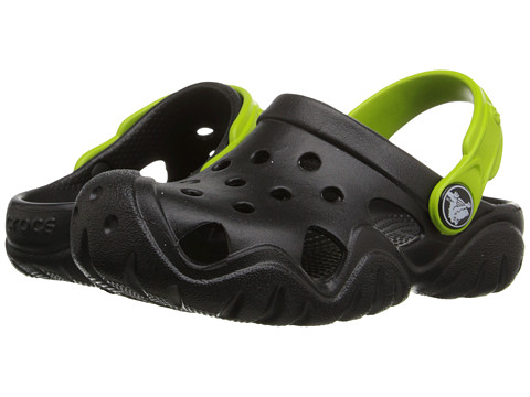 Crocs Kids Swiftwater Clog (Toddler/Little Kid) - Black/Volt Green