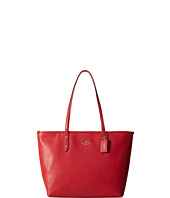 COACH - Pebbled City Zip Tote