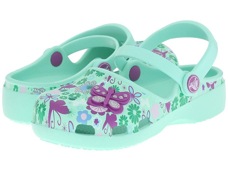 Crocs Kids Karin Butterfly Clog Toddler/Little Kid New Mint Girls Shoes