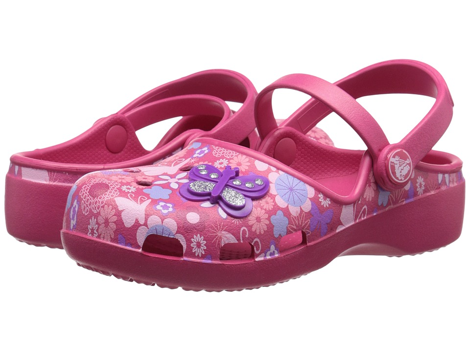 Crocs Kids Karin Butterfly Clog Toddler/Little Kid Raspberry Girls Shoes