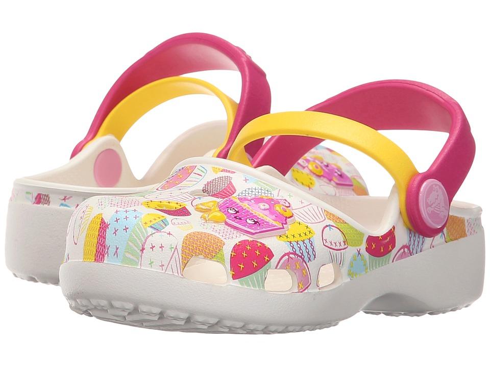 Crocs Kids Karin Cupcake Clog Toddler/Little Kid White Girls Shoes