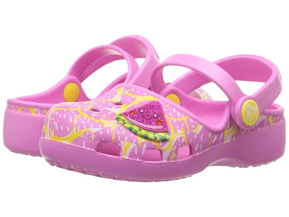 Crocs Kids Karin Watermelon Clog Toddler/Little Kid Party Pink Girls Shoes