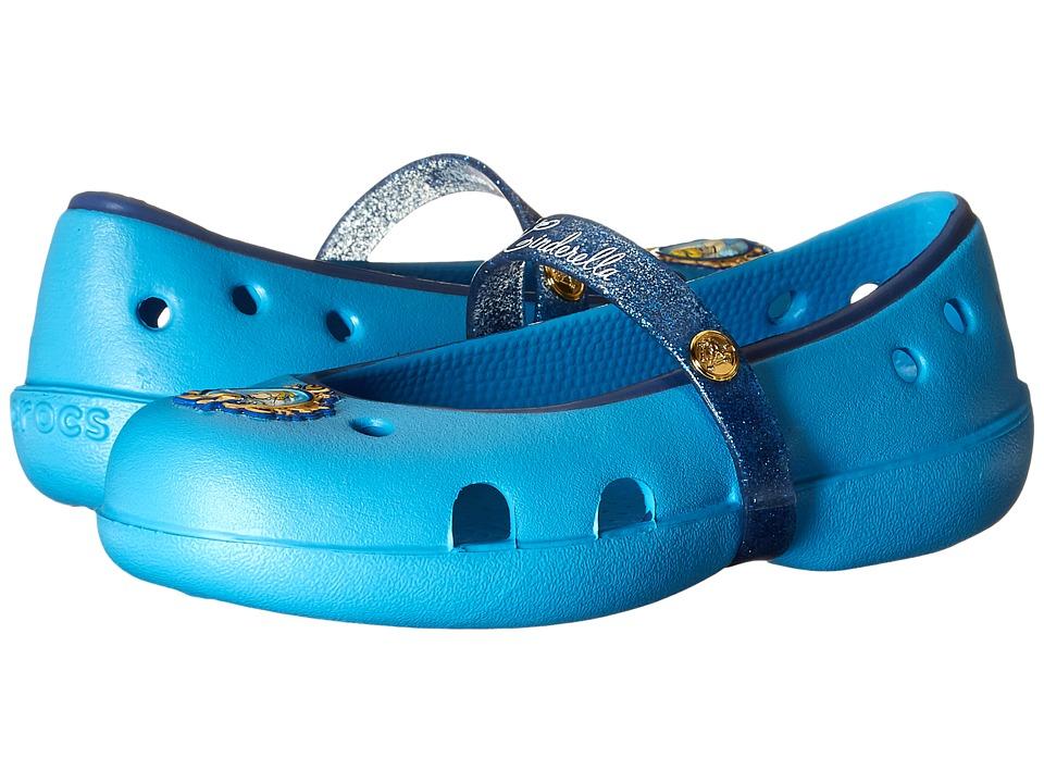 Crocs Kids Keeley Disney Princess Flat Toddler/Little Kid Bluebell Girls Shoes