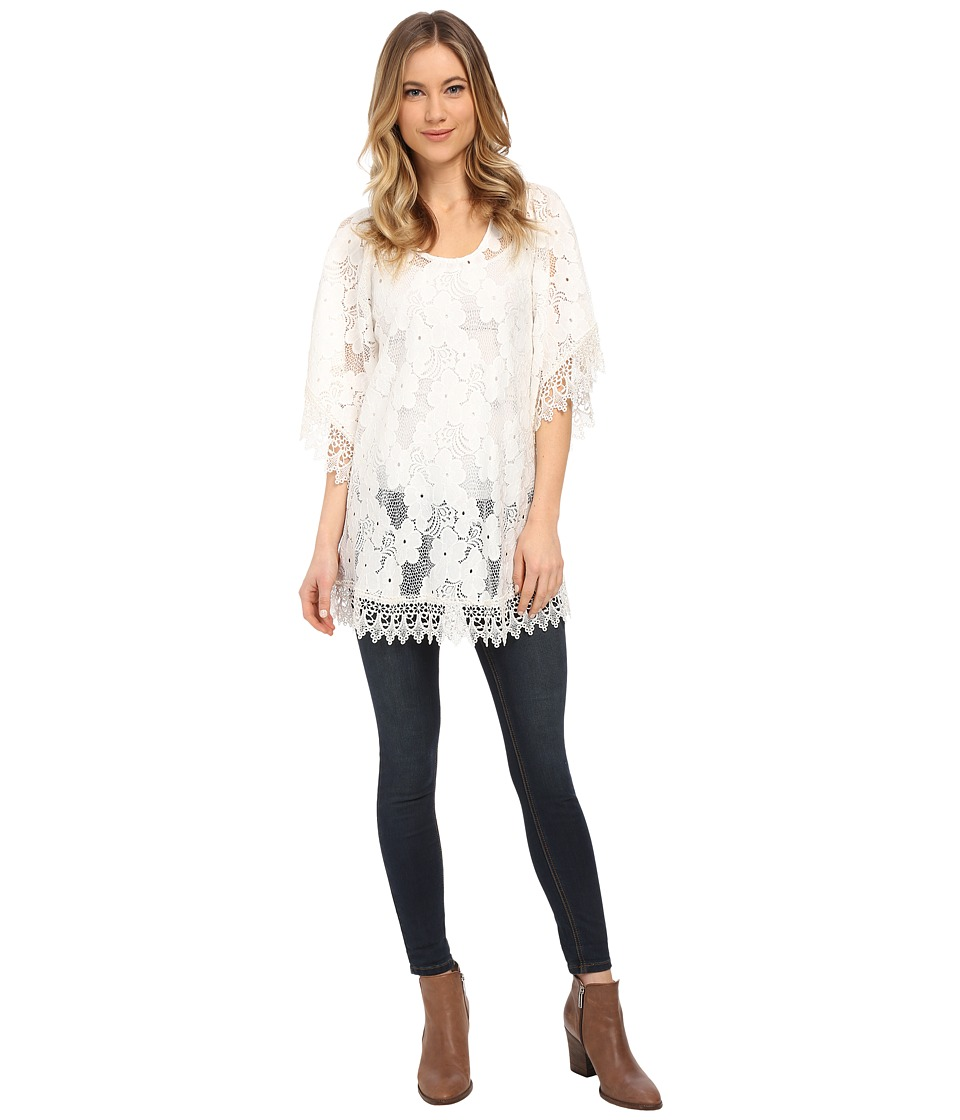 Lucy Love In Heaven Tunic White Womens Blouse