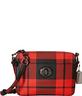 COACH - Plaid Turnlock Camera Bag