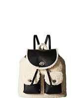 COACH - Shearling Turnlock Tie Rucksack