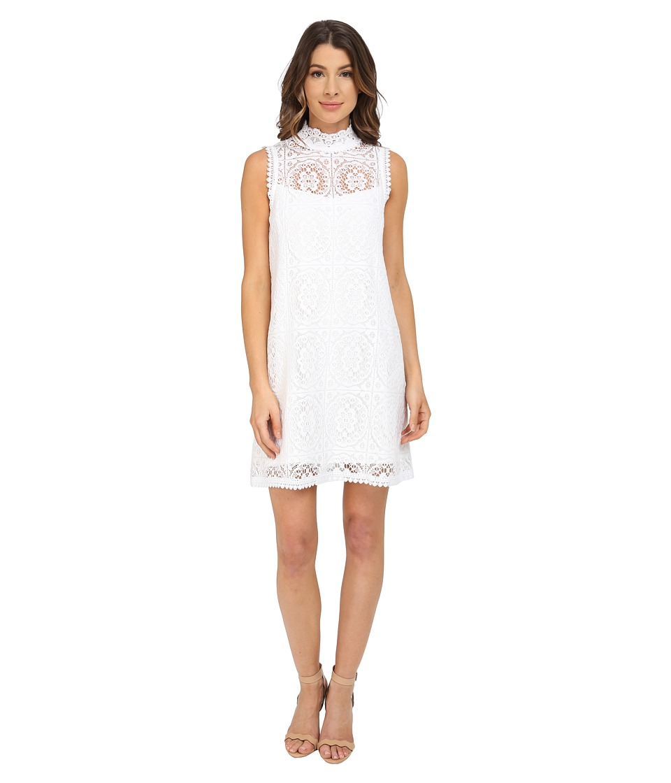 Nanette Lepore Sunkissed Lace Dress Ivory Womens Dress