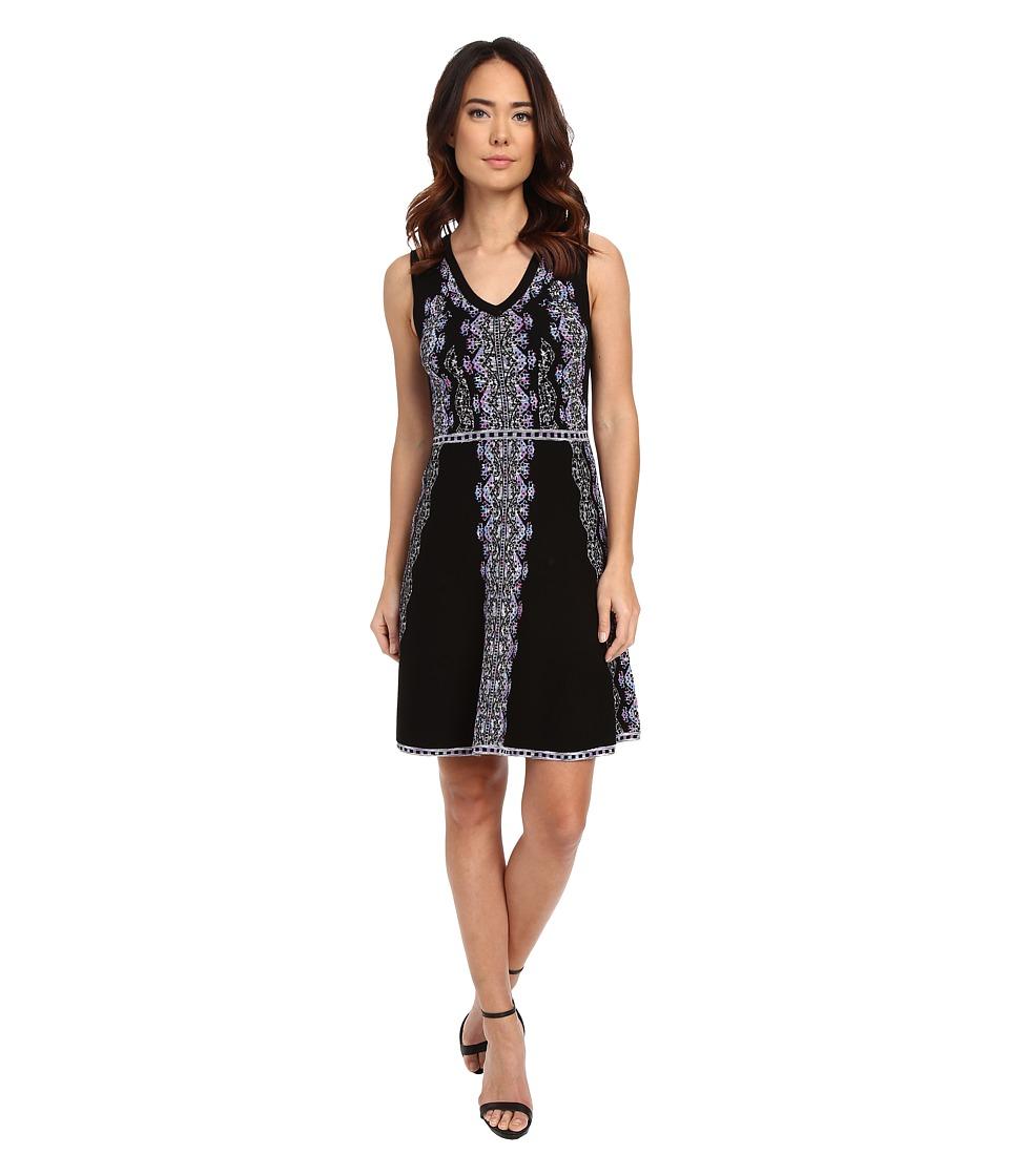 Nanette Lepore Mystical Stitch Dress Black/Multi Womens Dress