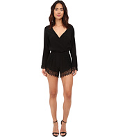 Lucy Love - Long Sleeve Lacy Romper in Black