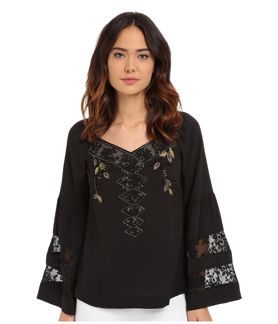 Nanette Lepore Poet Blouse Black Womens Blouse
