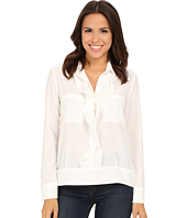 KUT from the Kloth - Adriana Ruffle Front Button Down