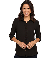 KUT from the Kloth - Lexi Collar Blouse w/ Snaps & Eyelet