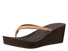 Sanuk Yoga Braided Wedge Metallic