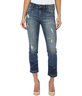 KUT from the Kloth - Reese Ankle Straight Leg Jeans w/ Release in Favorite/Antique Base Wash