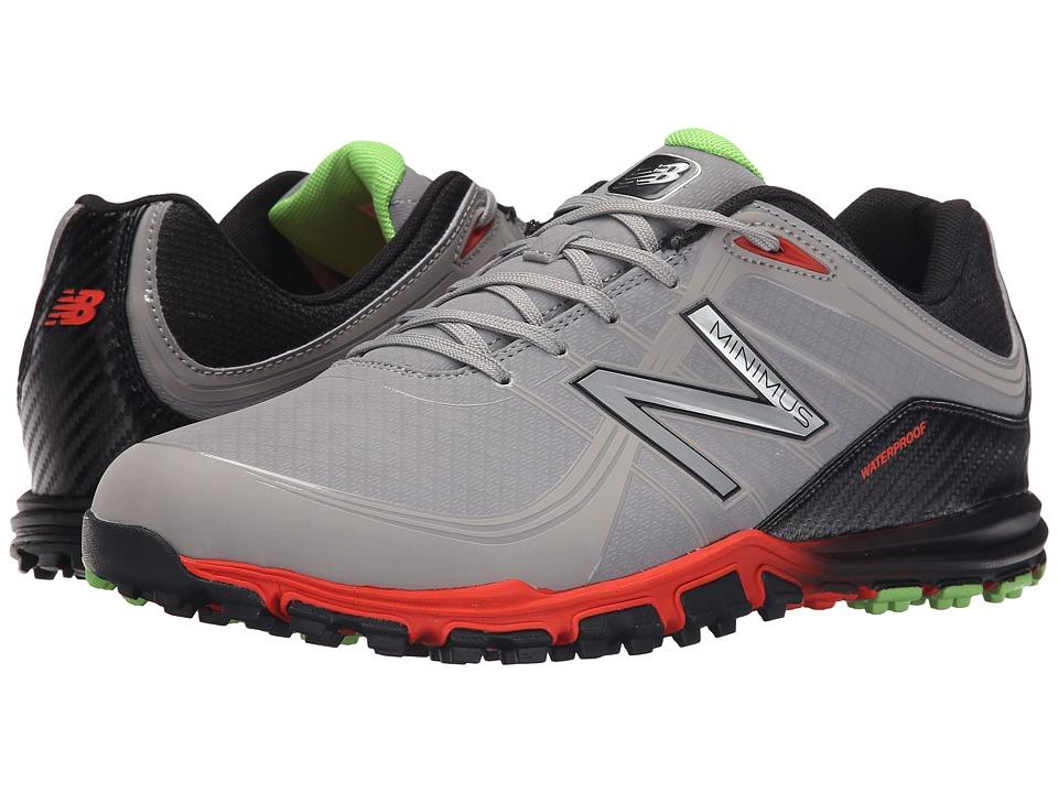 New Balance Golf NBG1005 Minimus Grey/Orange Mens Golf Shoes