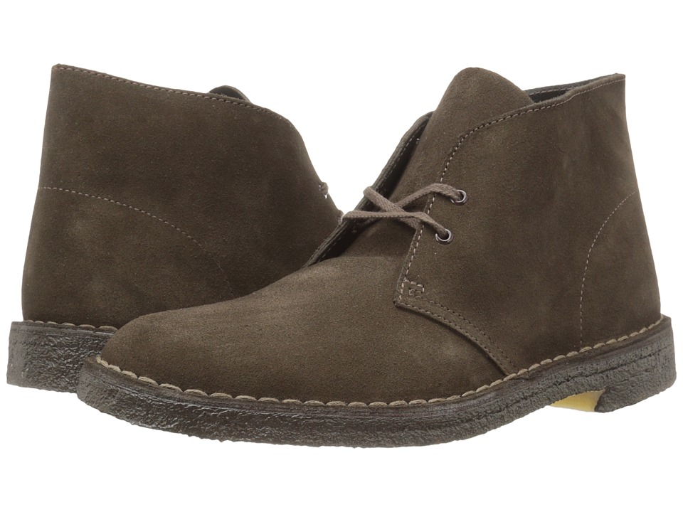 Clarks Desert Boot (Brown Suede) Men's Lace-up Boots