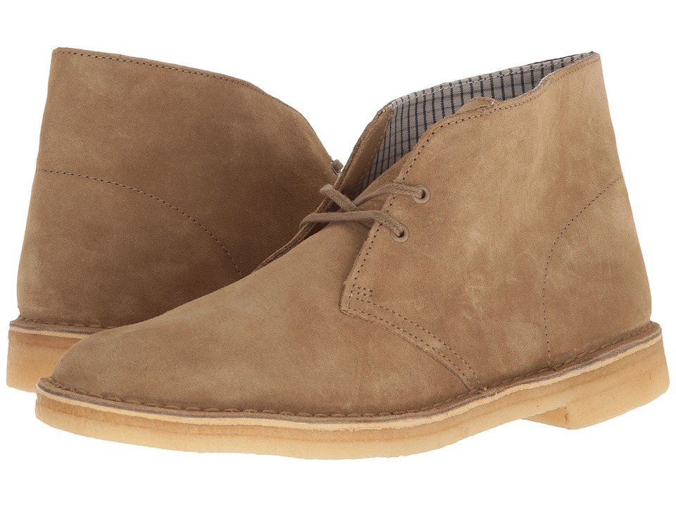 Clarks Desert Boot (Oakwood Suede/Oakwood) Men's Lace-up ...