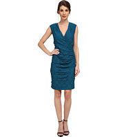 Adrianna Papell - Surplice and Ruched Sheath Dress