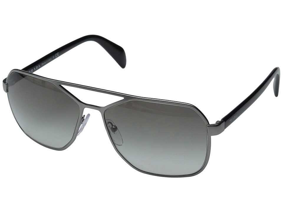 Prada 0PR 54RS Matte Gunmetal/Grey Gradient Fashion Sunglasses