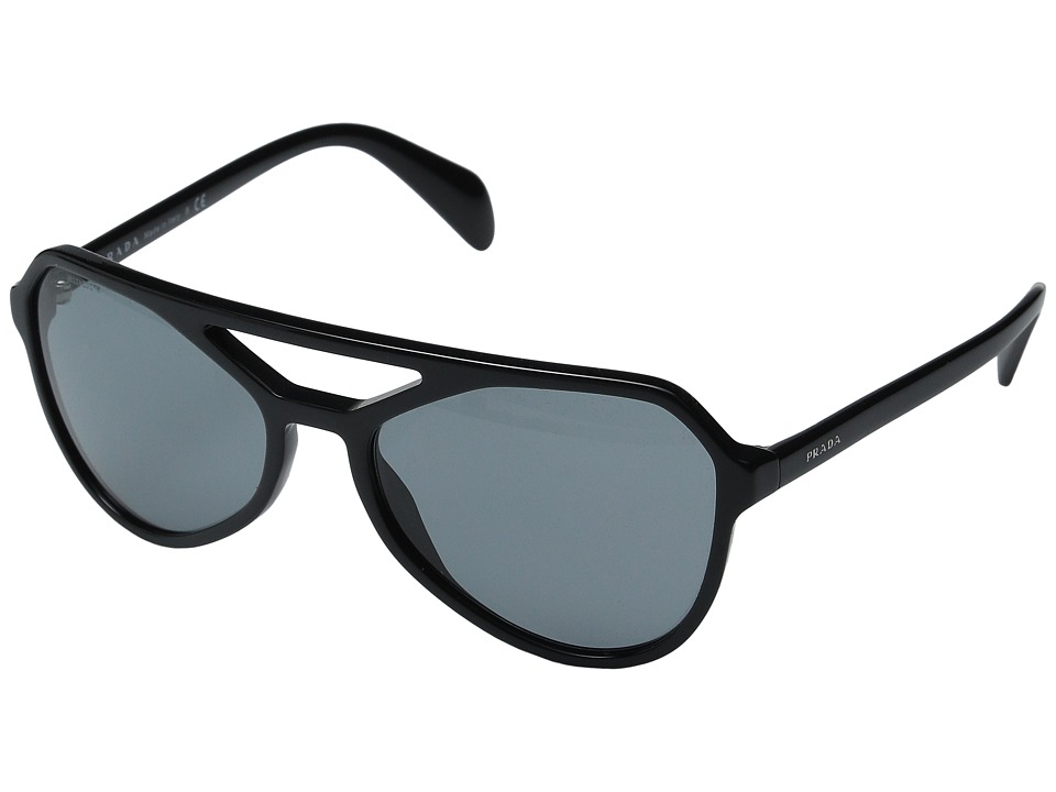 Prada 0PR 22RS Black/Dark Grey Fashion Sunglasses