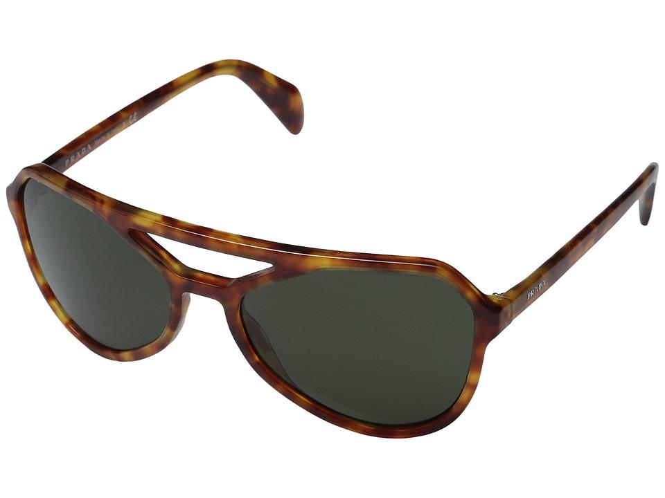 Prada 0PR 22RS Light Havana/Dark Green Fashion Sunglasses