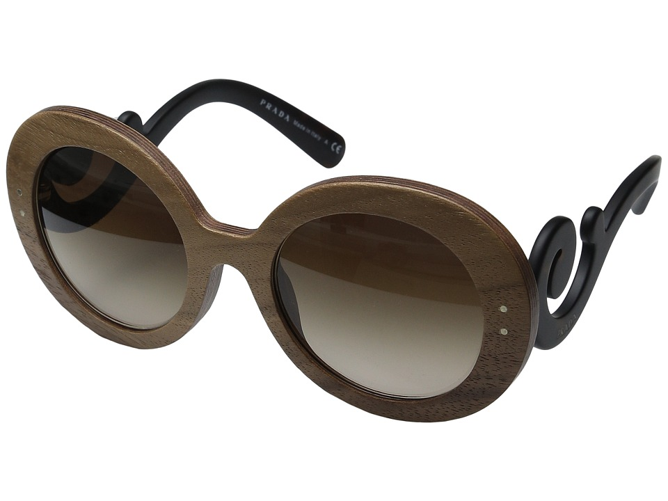 Prada 0PR 27RS Matte Havana/Brown Gradient Fashion Sunglasses