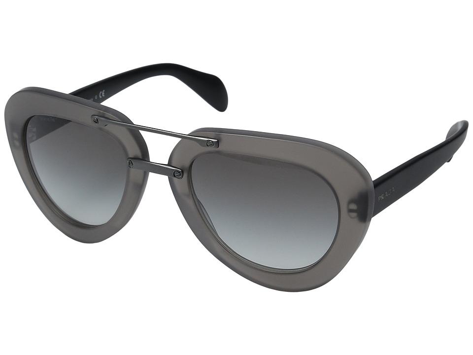 Prada 0PR 28RS Matte Black/Grey Gradient Fashion Sunglasses