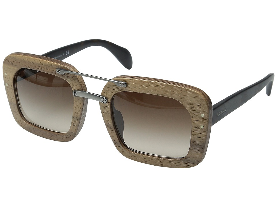 Prada 0PR 30RS Matte Havana/Brown Gradient Fashion Sunglasses