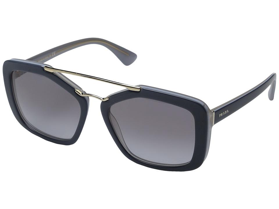 Prada 0PR 24RS Opal Grey/Azure/Grey Gradient Fashion Sunglasses