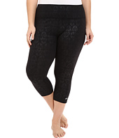 Marika Curves - Plus Size Embossed Capri Leggings