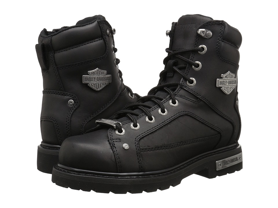 Harley Davidson Abercorn Black Mens Lace up Boots