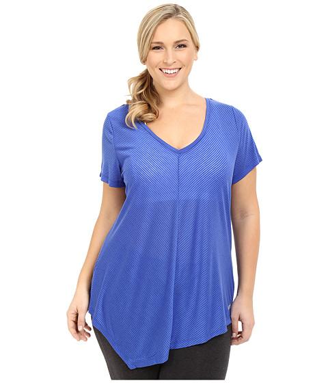 Marika Curves - Plus Size Lexington Tee (Blue Bolt) Women's T Shirt