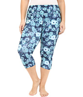 Marika Curves - Plus Size Printed Capri Leggings