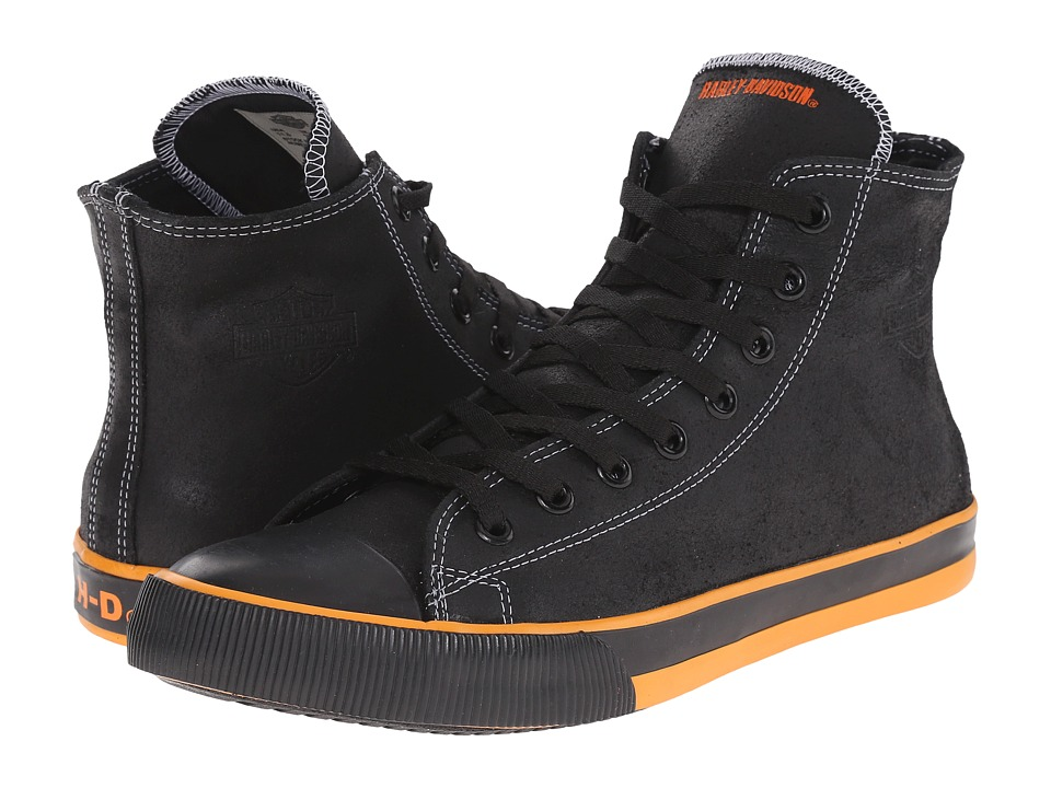 Harley-Davidson - Nathan (Black/Orange) Mens Lace up casual Shoes