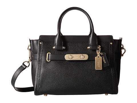 COACH Pebbled Leather Coach Swagger 27 - LI/Black
