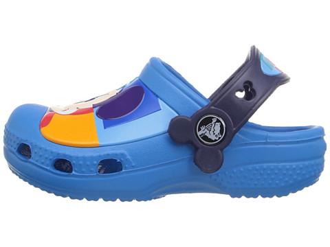 Crocs CROCBAND - Badesandale - charcoal/sea blue -